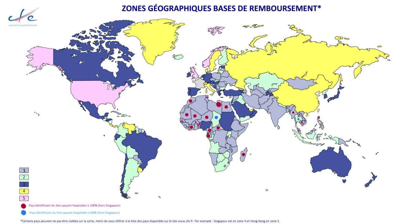 zone geographique cfe monde